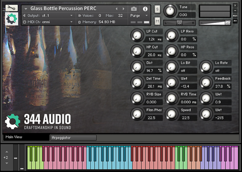 Supporting image for Glass Bottle Percussion