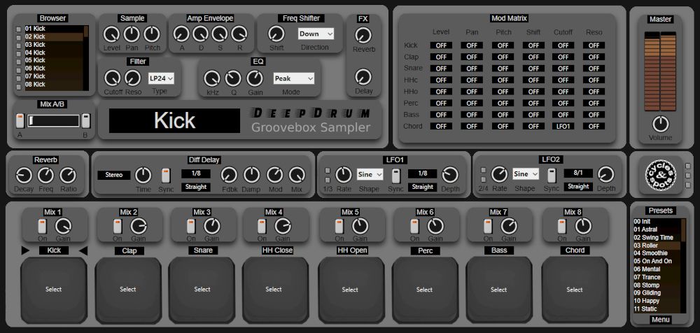 Supporting image for Deep Drum Plugin