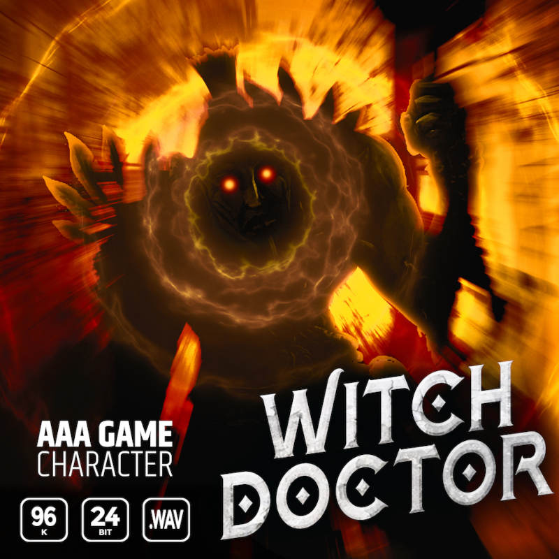 AAA Game Character Witch Doctor
