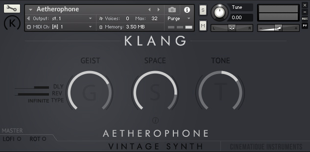 Supporting image for Vintage Synth: Aetherophone