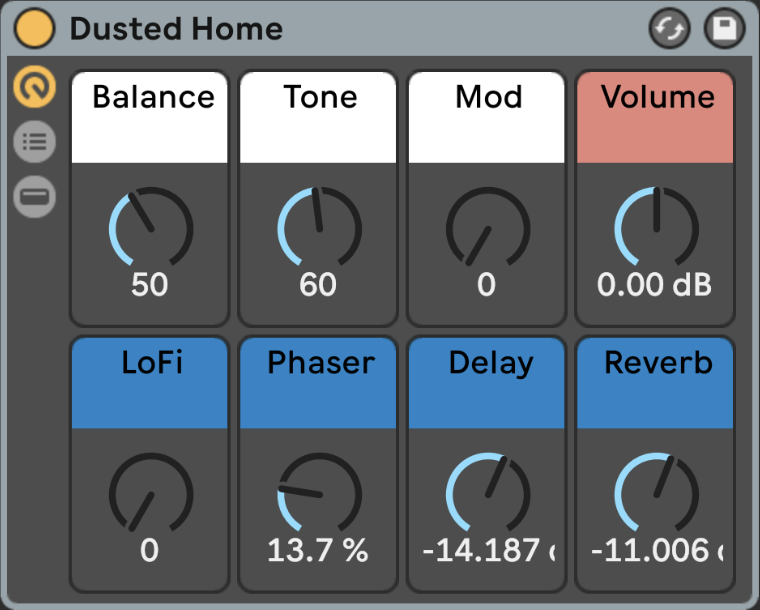 Supporting image for Freeze - Dusted Home - Ableton