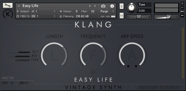 Supporting image for Vintage Synth: Easy Life - Free