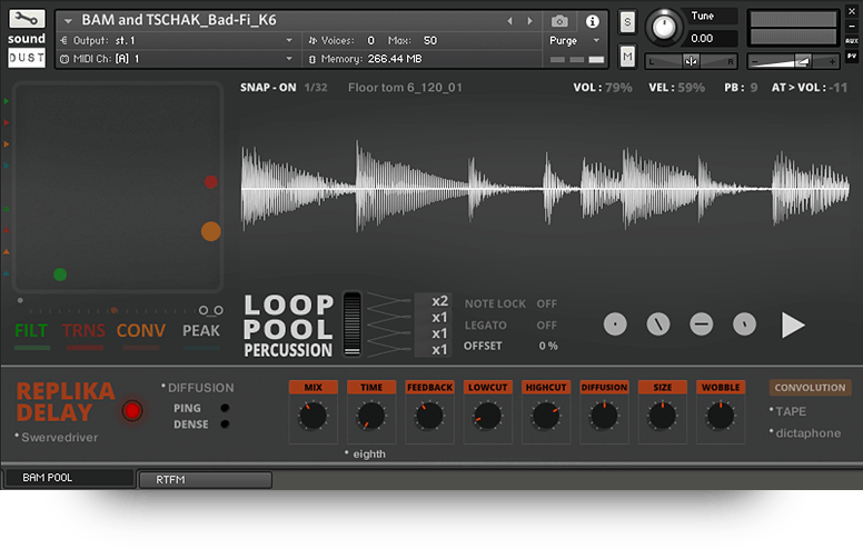 Supporting image for Loop Pool - Percussion