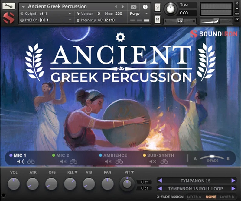 Supporting image for Ancient Greek Percussion