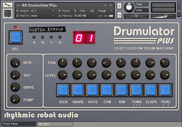 Image supporting DRUMULATOR PLUS