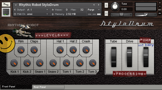 Image supporting STYLODRUM