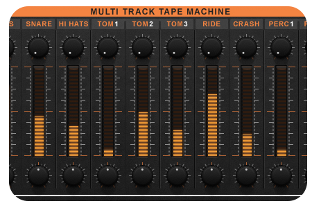 Image supporting Multitrack Tape Machine