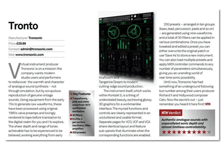 Image supporting Music Tech Magazine Review