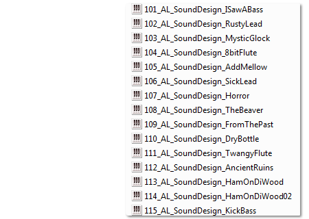 Image supporting Sound Design Patches